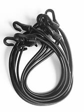 5 Black TACTICAL BUNGEE CORDS lightweight USA MADE