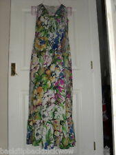 JONATHAN MARTIN FULL LENGTH FLORAL MAXI DANCE PARTY SUMMER DRESS UK SIZE 8 VGC