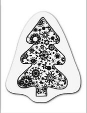 cArt-Us Clear rubber stamp SMALL CHRISTMAS TREE WITH CRYSTALS - 001883/1092