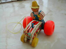 FISHER PRICE TRACTOR - 1961 - PULL ALONG TRACTOR - HARD TO FIND ITEM - TRACTOR