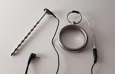 Metall-Prinzenzepter & Ring-Elektrode + Kabel | REIZSTROM/EMS/TENS/E-STIM/ESTIM