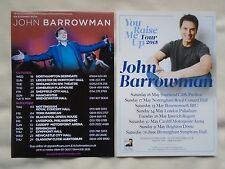 "JOHN BARROWMAN  ""You Raise me up"" 2011 &  2015 UK Tours. Promo tour flyers x 2"