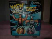 1998 kevin nash and randy savage w.c.w figures nash is autogrphed