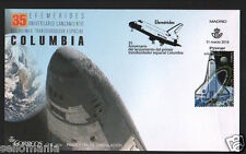 2016 35 ANNIVERSARY OF COLUMBIA SPACE LAUNCHING EDIFIL 5047 FDC SPAIN TP20079BIS