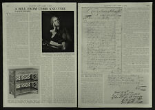 William Vile And John Cobb Cabinet Makers History Of 1956 2 Page Photo Article