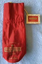 New Red Insulated Champagne Or Wine Cooler Bag Piper Heidsieck Reims France