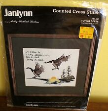 CANADIAN GEESE Counted Cross Stitch Kit Janlynn 1986 Flying Geese Father Kit