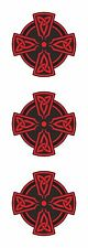 3x CELTIC RED CROSS VINYL STICKERS DECAL RELIGIOUS CAR BUMPER LAPTOP TABLET PC