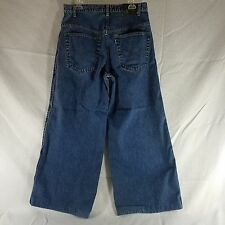 Vtg Levis SilverTab Jeans 32 X 34 SUPER Baggy Wide Leg Piping Rave Skater