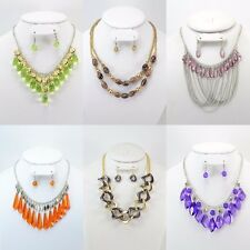 50PC WHOLESALE LOT FASHION JEWELRY NECKLACE EARRINGS