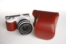 Handmade Full Real Leather Camera Case Bag Cover for Samsung NX300M 18-55mm Lens