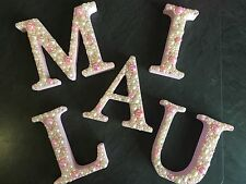 10 Cm DECORATED LETTER Baby Shower Baby birth Gift Keepsake Girl Or Boy