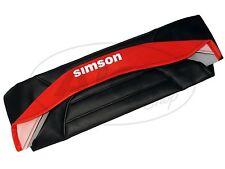 Sitzbezug strukturiert, schwarz/rot mit SIMSON-Schriftzug - Simson S53, S83, SR5