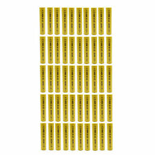 50 pcs 5/4 AAA 900mAh 1.2V Ni-Cd Rechargeable Battery Cell w/ Flat Top Yellow