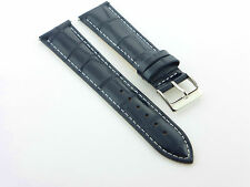 18MM NEW LEATHER WATCH STRAP BAND FOR SEIKO DARK BLUE WS