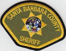 SANTA BARBARA COUNTY SHERIFF CALIFORNIA CA POLICE PATCH