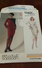 VOGUE PATTERNS 1989 DESIGNER ORIGINAL BELLVILLE SASSOON SZ 10 # 2408 FF UC RARE