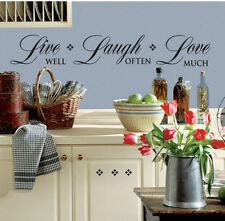 Quote: Live Well, Laugh Often, Love Much wall stickers 21 decals inspirational