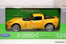 CHEVROLET CORVETTE C6 Z06 2007 gelb  - 1:24 WELLY