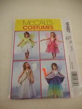 McCalls  M4847 Halloween Costume Sewing pattern Sz 6-7-8 uncut fairy with wings