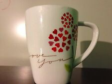 STARBUCKS COFFEE PINK RED FLOWER HEART I LOVE YOU SWEETHEART VALENTINE MUG CUP
