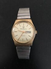 Jules Jurgensen Men's Watch Quartz Japan 855 Date Day Vintage As Is