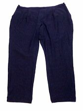 Old Navy Womens Size 2XL Blue Striped Casual Knit Pants New