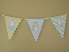 2.5M BUNTING - BABY MIFFY - BABY SHOWER CHRISTENING PARTY UNISEX TABLEWARE