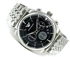 EMPORIO ARMANI MEN'S WATCH AR0373 CHRONOGRAPH - BRAND NEW WITH CERTIFICATE