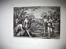 REBECCA al POZZO.Incisione originale 1842.Nipote di Abramo