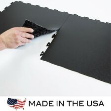 Garage Flooring Flexible PVC Flat Top - Sample KIT - Black - Made In USA