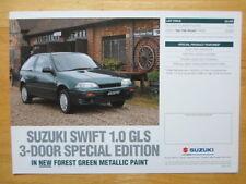SUZUKI Swift 1.0 GLS 3-Door Special Edition leaflet brochure 1996 - UK market