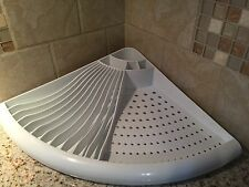 Kitchen Corner Dish Drying Rack Space-Saver Utensil Cup Dish Holder