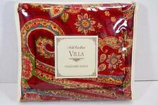 New in Package Noble Excellence Villa Carrara Standard Pillow Sham Red Paisley
