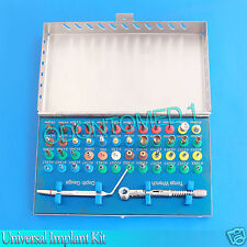 50 Pieces Universal Implant Kit Basic Dental Instruments