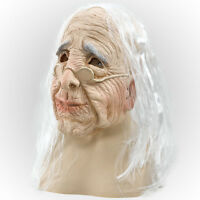 ADULT SCARY OLD #WOMAN OVERHEAD RUBBER MASK FANCY DRESS HALLOWEEN