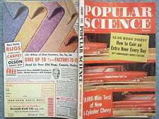 1962 POPULAR SCIENCE JANUARY VOL 180 NO. 1 10000 MILE TEST OF NEW 4-CYLINDER CHE