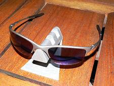 Oakley Sonnenbrille Half Wire XL Titanium Ice Blue Federbügel Why Wiretap Evade