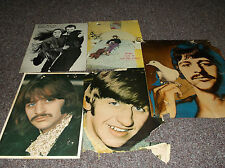 Lot of 5 vintage Ringo Starr pictures from the 1960's through the early 1980's