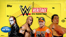 2016 Topps WWE Heritage Wrestling FACTORY SEALED Hobby Box Free S&H