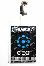 Iron Man Stark Industries CEO ID Badge Cosplay Prop Costume Novelty Christmas