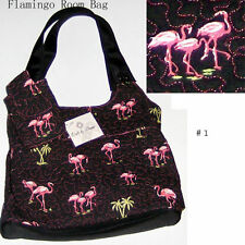 Donna Sharp Flamingo Bag Purse with Cell Phone Case Quilts by Donna