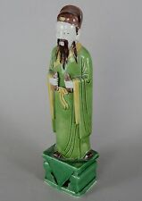 Chinese Porcelain Famille Verte Enamel Figurine of an Imperial Man