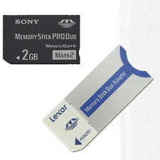 Original Sony MS Card 2GB Memory Stick Pro Magic Gate 2G with Lexar Card Adapter