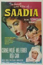 SAADIA Movie POSTER 27x40 B Colonel Wilde Mel Ferrer Rita Gam