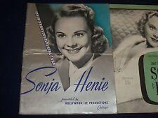 1939-1942 SONJA HENIE ICE SKATING PROGRAMS LOT OF 2 - GREAT PHOTOS - J 1668