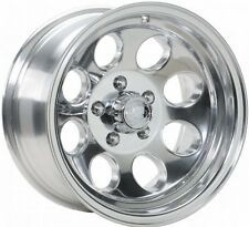 "(4) NEW 15 X 8"" Ion 171 POLISHED  Wheels jeep CJ7 CJ5 cj 5 7 ford f150 bronco"