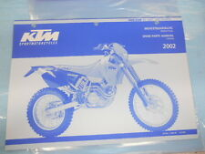 2002 KTM 400/520 SX MXC EXC Racing Chassis Spare Parts Manual 320845