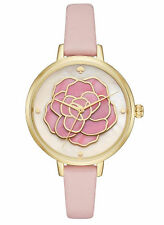 NEW Kate Spade New York KSW1257 Metro Women's Atlas Pink Leather Strap Watch