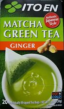ITO EN MATCHA GREEN TEA GINGER - AUTHENTIC JAPANESE STYLE- 20 TEA BAGS